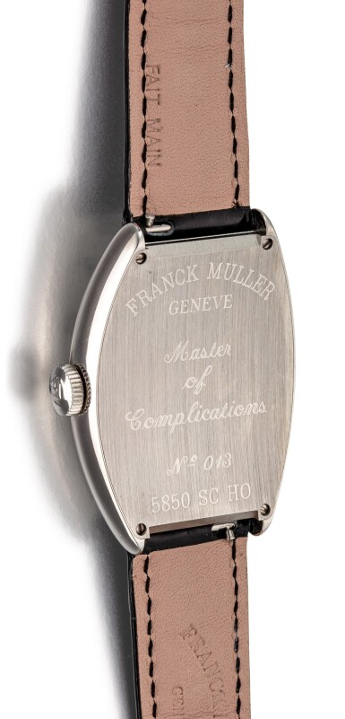 View 3. Thumbnail of Lot 104. FRANCK MULLER   CURVEX, REFERENCE 5850 SC HO A STAINLESS STEEL WRISTWATCH, CIRCA 2018.