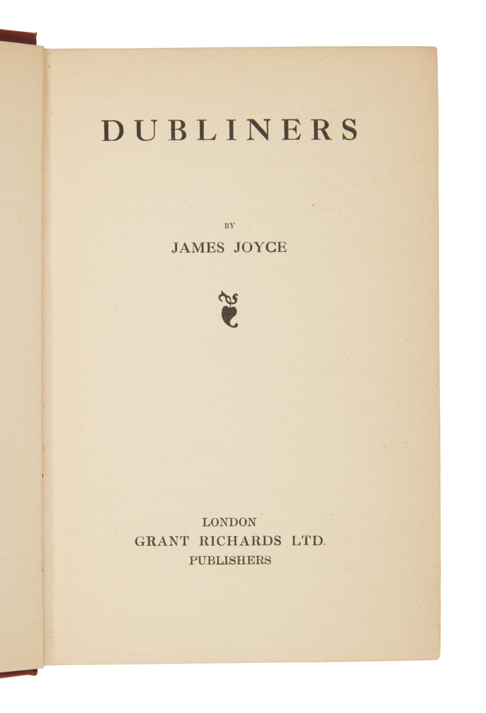 View full screen - View 1 of Lot 118. Joyce, James   First published edition of Dubliners in the very rare dust-jacket.