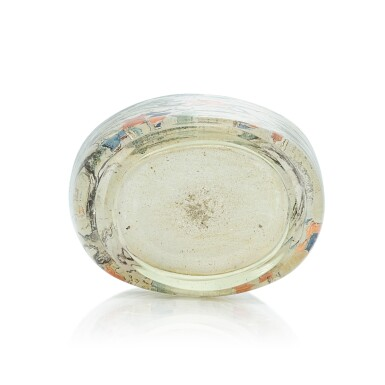 View 3. Thumbnail of Lot 3034. An Inscribed Inside-Painted Glass 'Wen Yanbo' Snuff Bottle By Meng Zishou, Dated Xinhai Year, Corresponding to 1911 | 辛亥(1911年) 孟子受作玻璃內畫文彥博灌水浮球圖鼻煙壺.