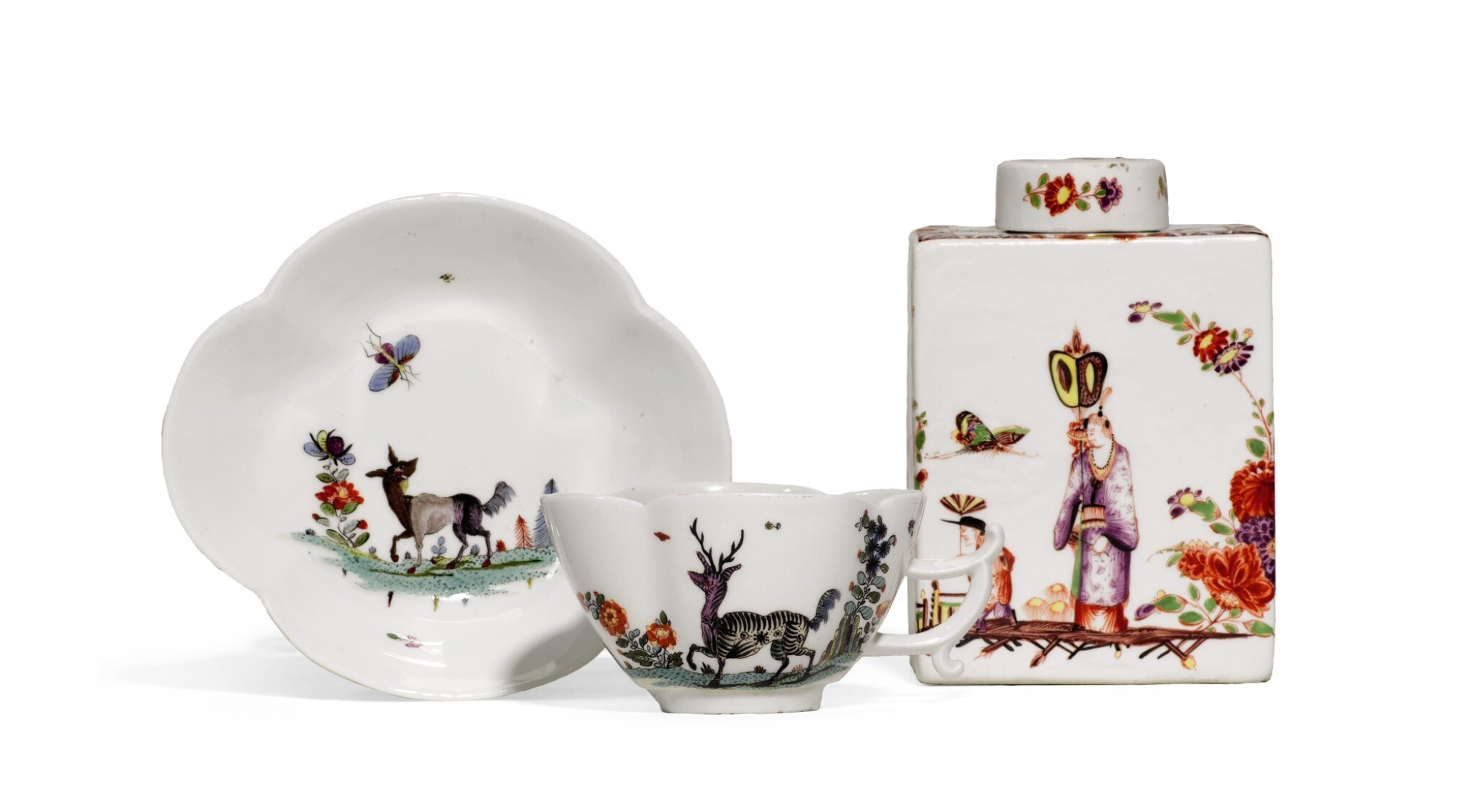 A Meissen Porcelain Chinoiserie Tea Canister And Cover And A Quatrefoil Cup And Saucer Circa 1730 35 Style Silver Gold Boxes And Ceramics2020 Sotheby S