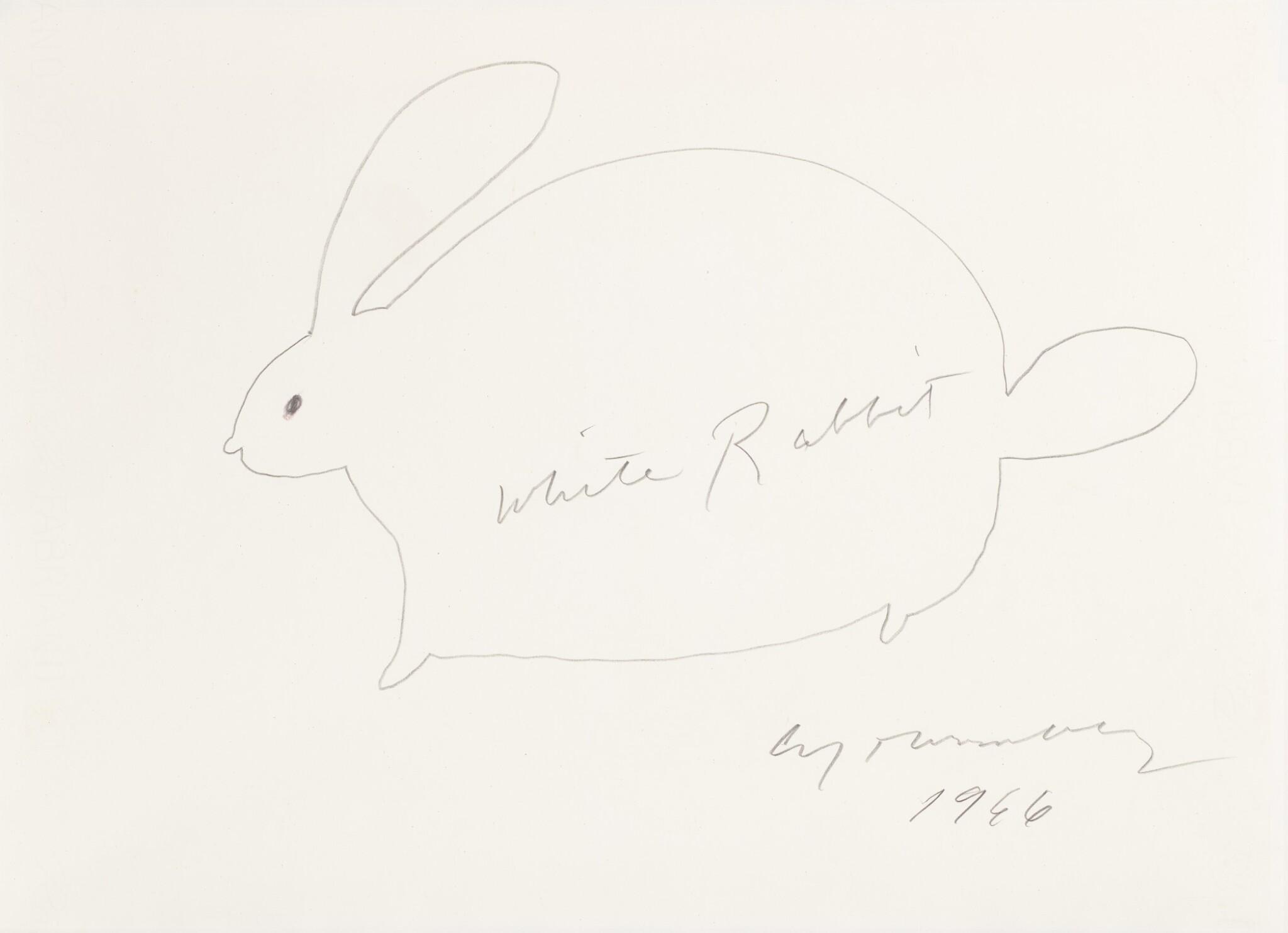 View full screen - View 1 of Lot 61. White Rabbit.