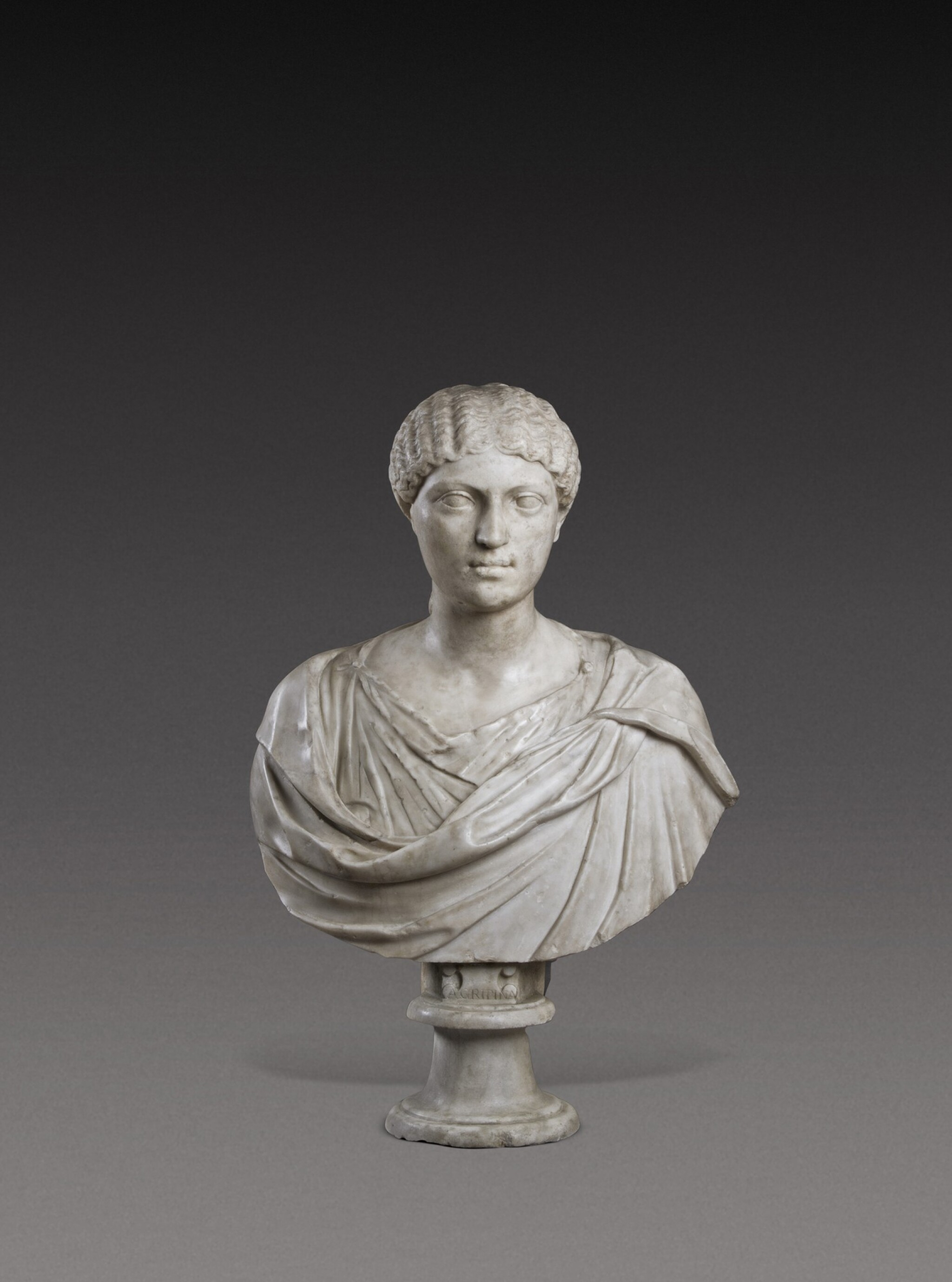 View 1 of Lot 72. A Roman Marble Portrait Bust of a Woman, Reign of Agrippina, circa A.D. 20-40.