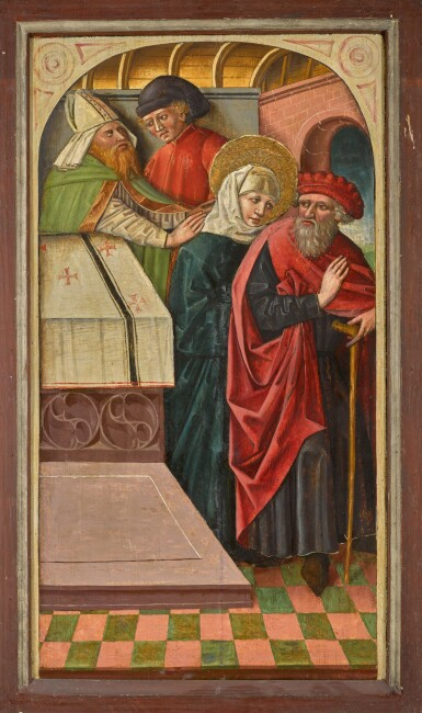 View 2. Thumbnail of Lot 106. AUSTRIAN SCHOOL, 15TH CENTURY | The expulsion of Joachim from the Temple.
