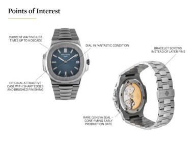 PATEK PHILIPPE | 'GENEVA SEAL' NAUTILUS, REF 5711/1 STAINLESS STEEL WRISTWATCH WITH DATE AND BRACELET CIRCA 2007