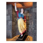 FINE AND RARE CARVED AND POLYCHROME PAINT-DECORATED WHITE PINE SHIP FIGUREHEAD OF A WOMAN WITH OUTSTRETCHED ARMS, PROBABLY AMERICA, CIRCA 1855