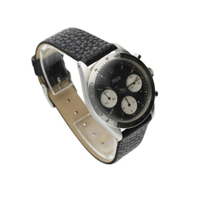 View 3. Thumbnail of Lot 4. ROLEX | REFERENCE 6239 'DOUBLE SWISS UNDERLINE' DAYTONA  A RARE STAINLESS STEEL CHRONOGRAPH WRISTWATCH WITH REGISTERS, CIRCA 1963.