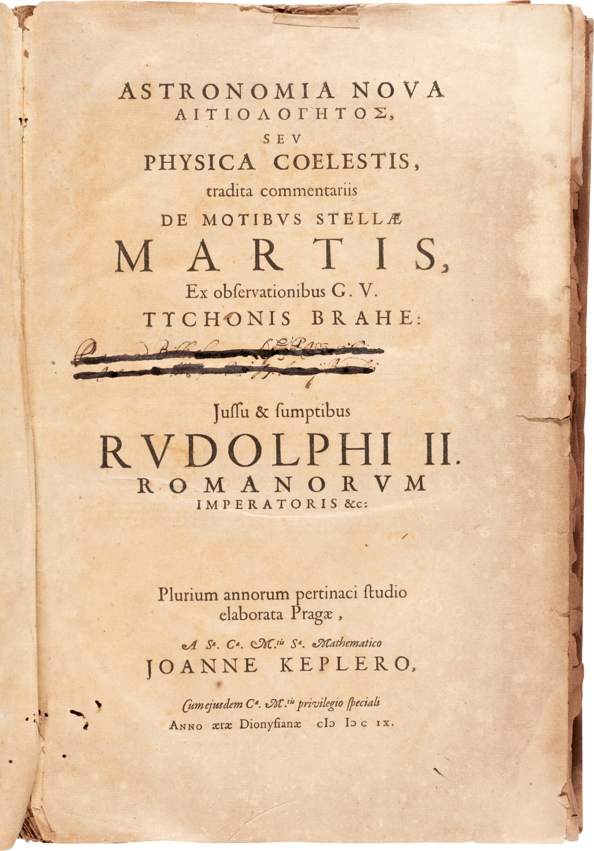 View full screen - View 1 of Lot 30. Kepler | Astronomia nova, [Heidelberg], 1609, disbound.