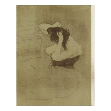 HENRI DE TOULOUSE-LAUTREC   FEMME QUI SE PEIGNE - LA COIFFURE (D. 186; ADR. 178; W. 162)