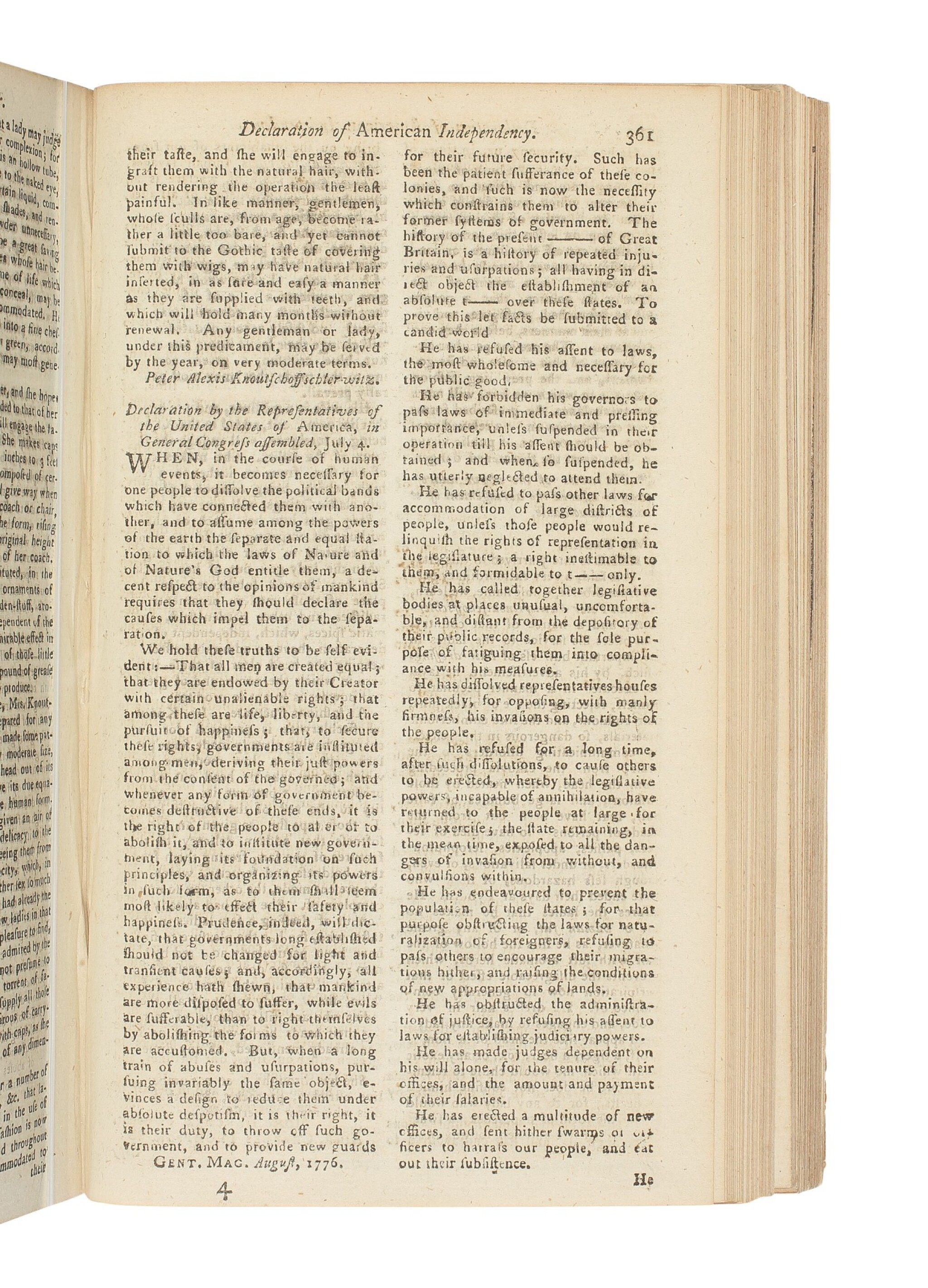 """THE DECLARATION OF INDEPENDENCE"" 