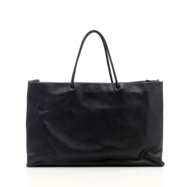 View 2. Thumbnail of Lot 180. Large black leather '31 Rue Cambon' tote bag.