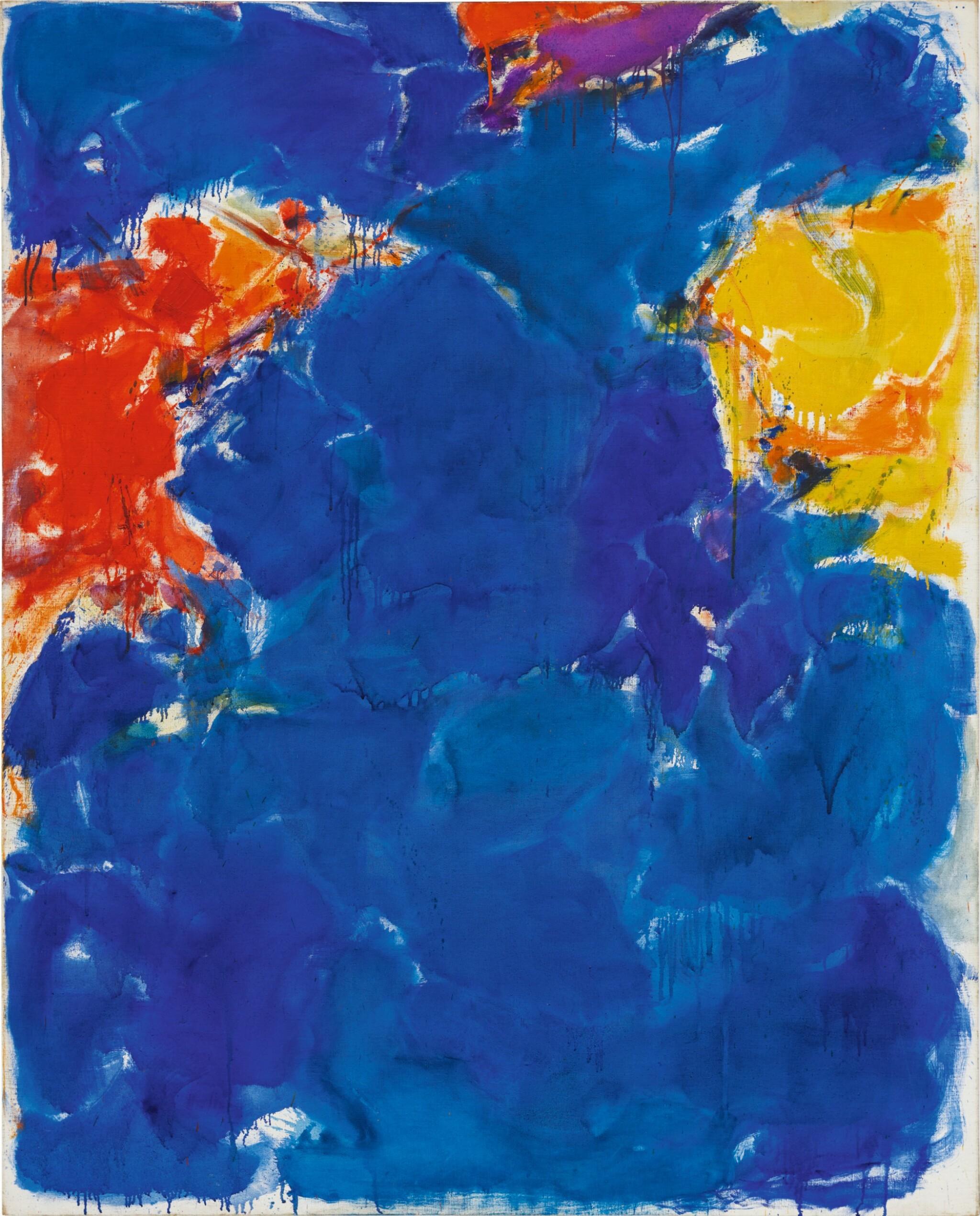 SAM FRANCIS | DEEP BLUE, YELLOW, RED