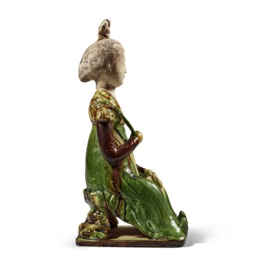 View 6. Thumbnail of Lot 179. A sancai-glazed pottery figure of a seated court lady, Tang dynasty | 唐 三彩仕女坐俑.