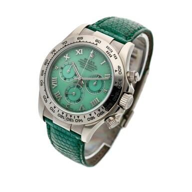 View 2. Thumbnail of Lot 208. Reference 116519 'Daytona Beach'  A white gold automatic chronograph wristwatch, Circa 2000.
