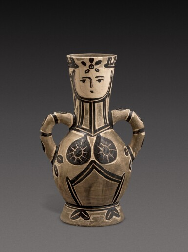 View 1. Thumbnail of Lot 12. Vase deux anses hautes (A. R. 213).