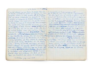 View 7. Thumbnail of Lot 143. La Bâtarde. 1958-1963. Important manuscrit autographe, premier jet. 23 cahiers, env. 2048 p. ms. .