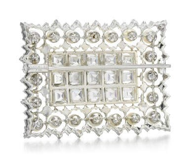 View 3. Thumbnail of Lot 258. BUCCELLATI   SEED PEARL AND DIAMOND BROOCH.