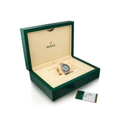 View 4. Thumbnail of Lot 2015. Rolex   Cosmograph Daytona, Reference 116506, A brand new platinum and diamond-set chronograph wristwatch with bracelet, Circa 2020   勞力士   Cosmograph Daytona 型號116506 全新鉑金鑲鑽石計時鏈帶腕錶,約2020年製.