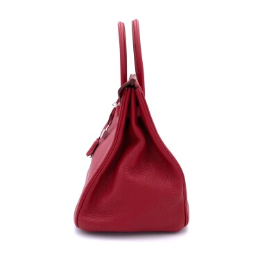 View 5. Thumbnail of Lot 723. HERMÈS   ROUGE GRENATE BIRKIN 35 IN TOURILLON CLEMENCE LEATHER WITH PALLADIUM HARDWARE, 2008.