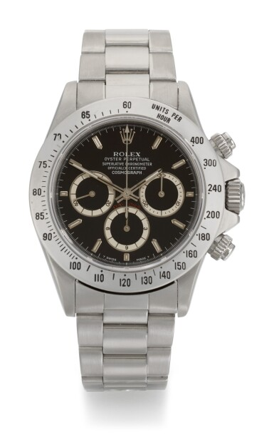 View 1. Thumbnail of Lot 65. ROLEX   DAYTONA INVERTED SIX, REFERENCE 16520, STAINLESS STEEL CHRONOGRAPH WRISTWATCH WITH BRACELET, CIRCA 1991.