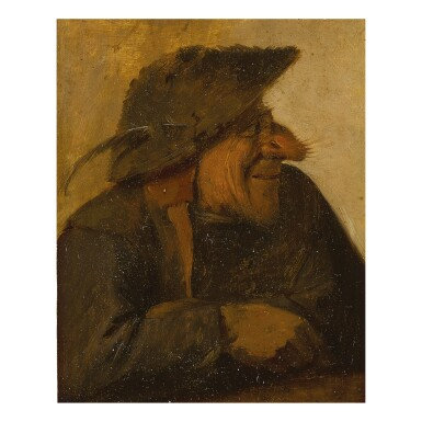 CIRCLE OF ADRIAEN BROUWER | HEAD OF AN OLD MAN IN PROFILE FACING RIGHT