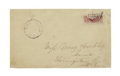 1870-71 6c Carmine Vertical Bisect (148a)