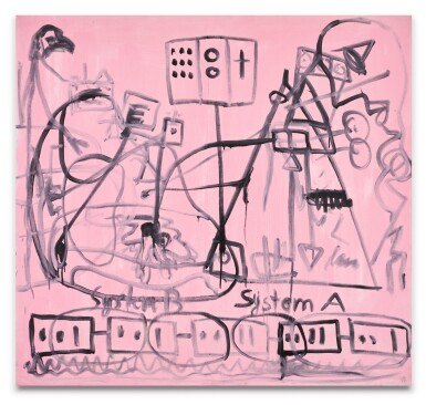 View 1. Thumbnail of Lot 17. A.R. PENCK | SYSTEM B – SYSTEM A.