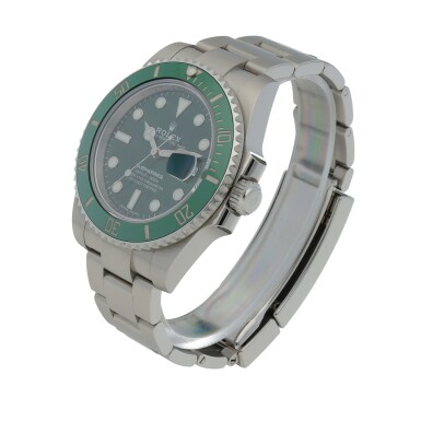 View 2. Thumbnail of Lot 6. Retailed by Bucherer: 'Hulk' Submariner, Ref. 116610LV Stainless steel wristwatch with date and bracelet Circa 2020 | 勞力士| 零售商為Bucherer:116610LV型號「'Hulk' Submariner」精鋼鍊帶腕錶備日期顯示,年份約2020.