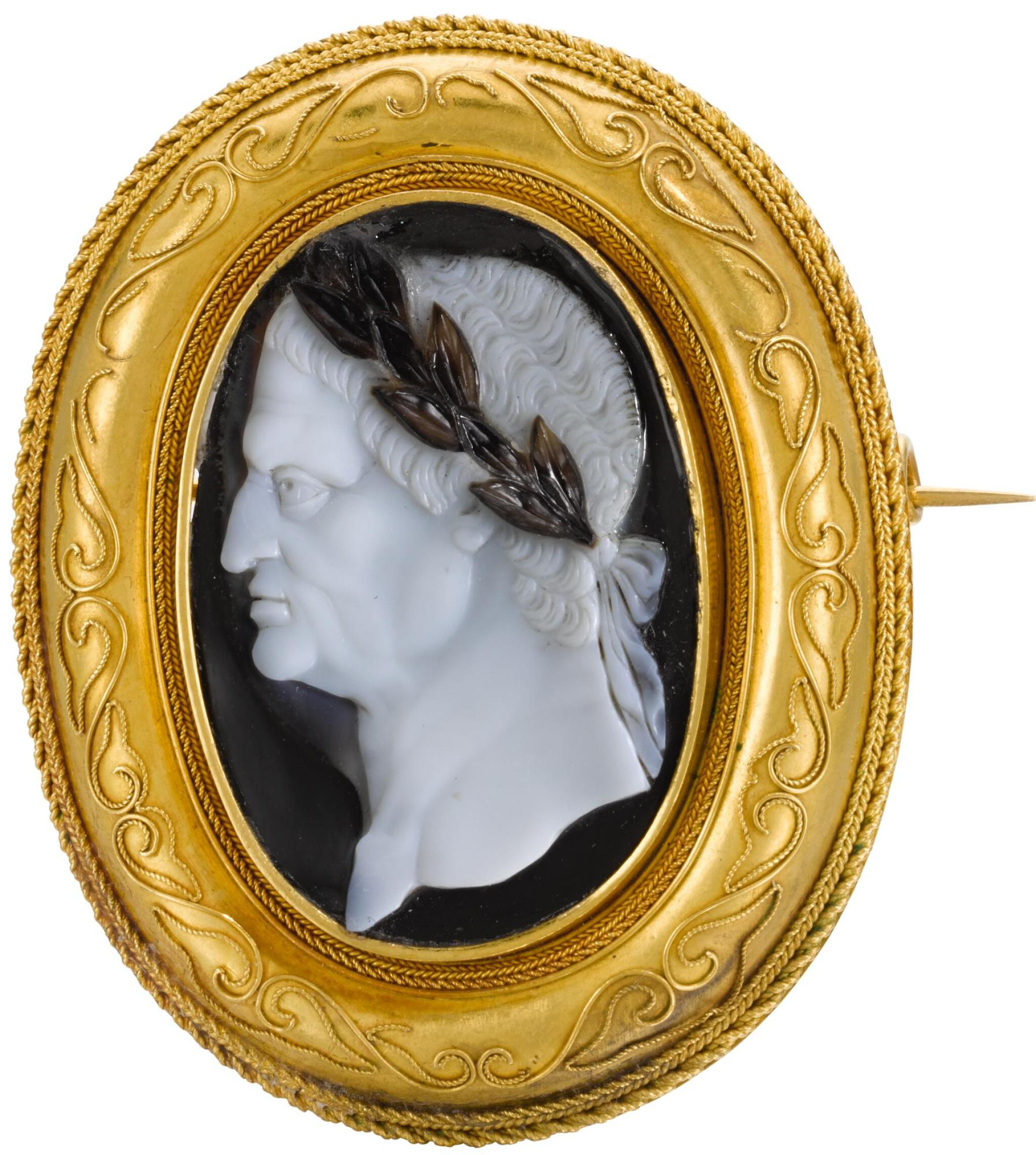 View full screen - View 1 of Lot 53.  ITALIAN, CIRCA 1600 | CAMEO WITH AN EMPEROR, POSSIBLY VESPASIAN (9-23 C.E.).