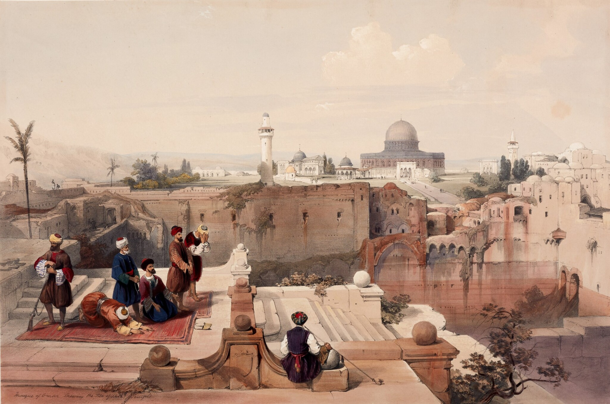 View full screen - View 1 of Lot 151. ROBERTS | The Holy Land, Syria, Idumea, Arabia, Egypt & Nubia, 1842-1849, subscribers' copy, coloured by hand.