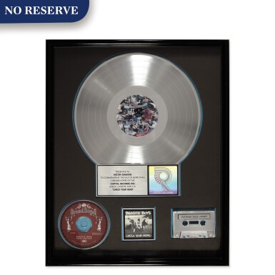"""RIAA Gold Sales Award presented to Hester Diamond for the Beastie Boys 1992 album """"Check Your Head"""""""