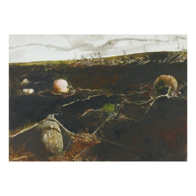 View 1. Thumbnail of Lot 16. ANDREW WYETH | PUMPKIN HILL.