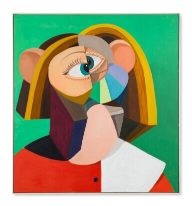 GEORGE CONDO | WOMAN WITH GOLDEN HAIR