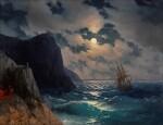 IVAN KONSTANTINOVICH AIVAZOVSKY | PASSING SHIP ON A MOONLIT NIGHT
