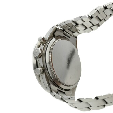 View 3. Thumbnail of Lot 278. Reference 6264 Daytona  A stainless steel chronograph wristwatch with bracelet, Circa 1971 .