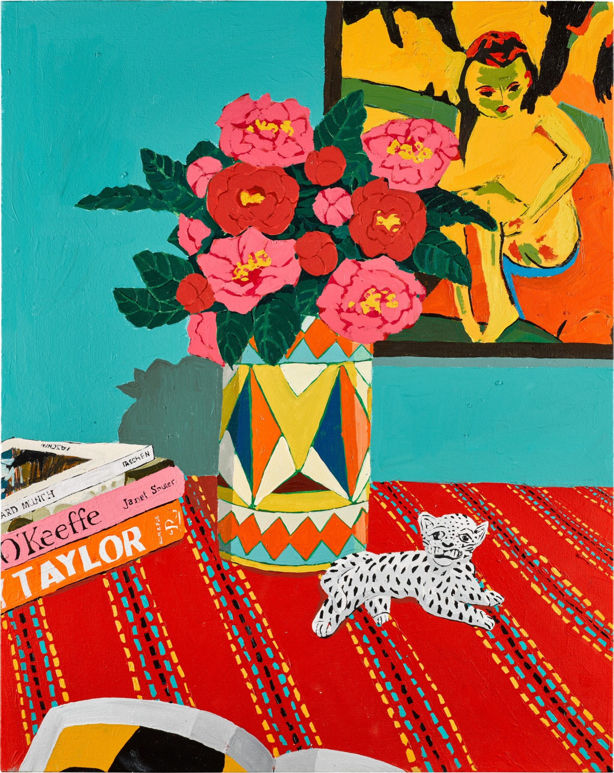View full screen - View 1 of Lot 101. Camellias and Leopard     .