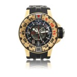 RICHARD MILLE   REFERENCE RM028   A LARGE PINK GOLD SEMI-SKELETONIZED AUTOMATIC CENTER SECONDS WRISTWATCH WITH DATE, CIRCA 2010