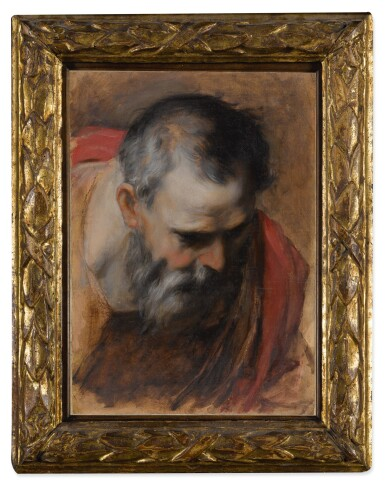 View 3. Thumbnail of Lot 115. Saint Joseph, a head study for the Visitation Altarpiece        .