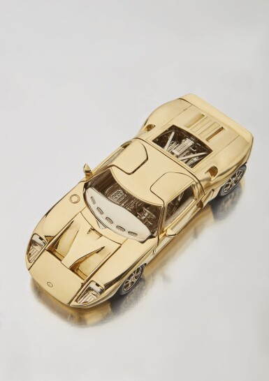 Property of a Descendant of Henry Ford | Eighteen-Karat Two-Tone Gold 2006 Ford GT 1/25 Scale Model