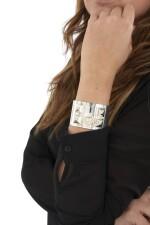 Silver bracelet, Collier de chien, Hermès