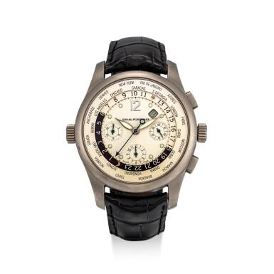 View 1. Thumbnail of Lot 8142. GIRARD-PERREGAUX   WW.TC, REFERENCE 4980   A TITANIUM WORLD TIME CHRONOGRAPH WRISTWATCH WITH DATE, CIRCA 2002   芝柏   WW.TC 型號4980   鈦金屬世界時間計時腕錶,備日期顯示,約2002年製.