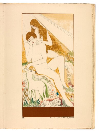 View 3. Thumbnail of Lot 98. Schmied and Mardrus. La Création. 1928. 2 volumes. folio. original wrappers.
