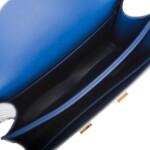 Hermès Bleu Saphir Constance 18cm of Shiny Alligator with Gold Hardware