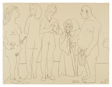 View 1. Thumbnail of Lot 79. PABLO PICASSO   PERSONNAGES ET COLOMBE (B. 758; M. 254).