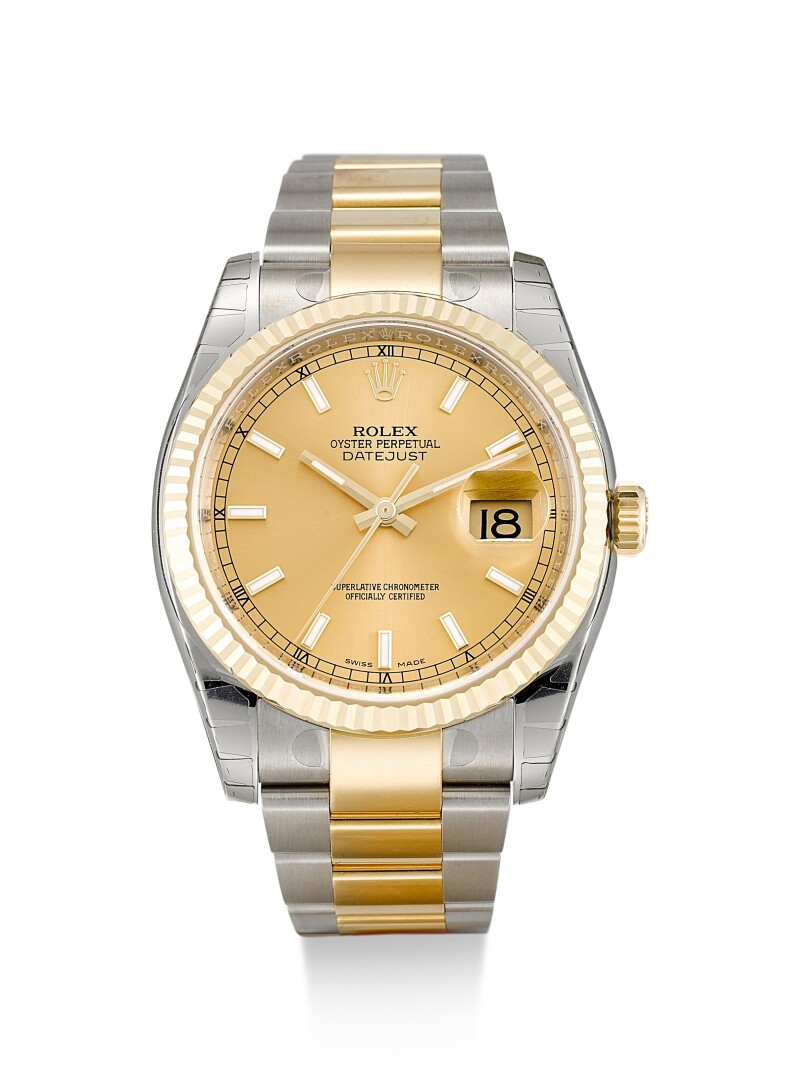 Datejust, Reference 116233  A Stainless Steel And Yellow Gold Wristwatch With Date And Bracelet, Circa 2017