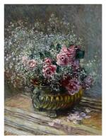 Fleurs dans un pot (Roses et brouillard)