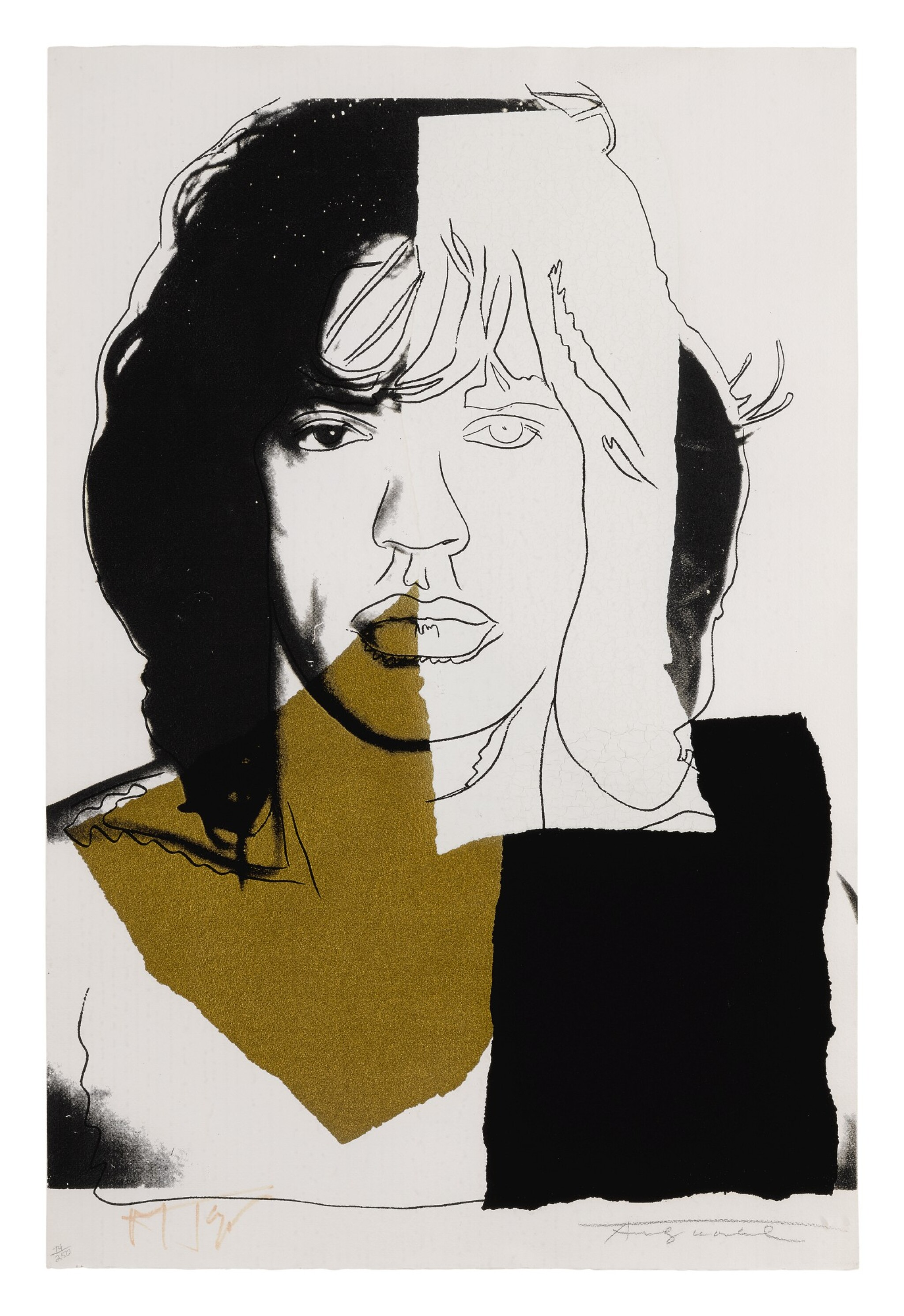 View full screen - View 1 of Lot 79. ANDY WARHOL | MICK JAGGER (F. & S. II.146).