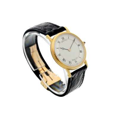 View 3. Thumbnail of Lot 204. RETAILED BY TIFFANY & CO.: A YELLOW GOLD WRISTWATCH, CIRCA 2000.