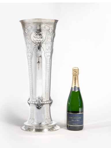 View 3. Thumbnail of Lot 431. A Massive Pair of American Silver Tall Vases, Tiffany & Co., New York, circa 1909.