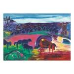 MENASHE KADISHMAN    LANDSCAPE WITH SHEEP