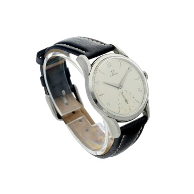 View 3. Thumbnail of Lot 62. REFERENCE 2487-5 A STAINLESS STEEL WRISTWATCH, CIRCA 1960.